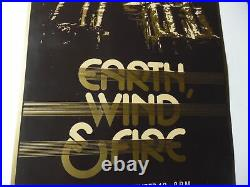 1981 EARTH WIND & FIRE Window Card Concert Poster Indianapolis Vintage Original