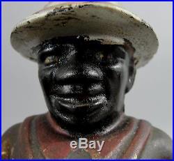 2 Antique AC Williams Black Americana Black Man Sharecropper Farmer Still Banks