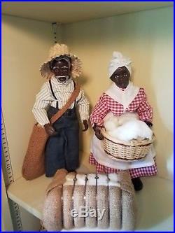 2 Black Dolls African American, Vintage antique VERY RARE QUINCY SCARBOROUGH