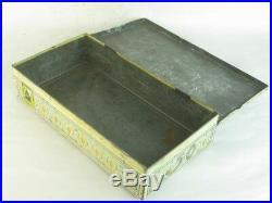 31695 Old Vintage Tin Black Americana Negro Negertjes Cigar Tobacco can Case