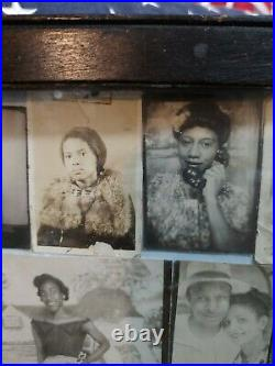33 vintage antique African-American photos in frame photo booth