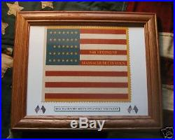 34 Star Civil War Flag. 54th Massachusetts. Glory