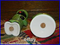 5 1/2 Black Americana Aunt Jemima Chef & Cook Salt & Pepper Shaker Set Green
