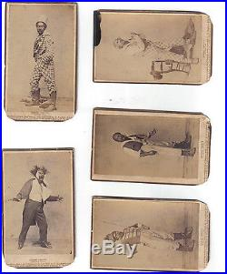 5 1862 George Christy Minstrels Blackface Actor CDV's Black Americana Uncle Tom