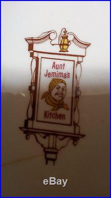 6 Vintage Aunt Jemima's Kitchens Dinner Plate Restaurant Disneyland Wellsville