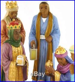 9 Piece Nativity Set African American NEW