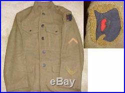 92nd Division African-American 167th Field Artillery Brigade Uniform Rare