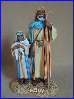 9PCS Thomas Blackshear Ebony Visions COMPLETE NATIVITY Gabriel Shepherds XRARE
