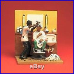 A Scene From Spit Shine The Barber's Chair Figurine Annie Lee New