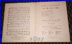 ALL COONS LOOK ALIKE TO ME 1896 Ernest Hogan SHEET MUSIC Black Americana