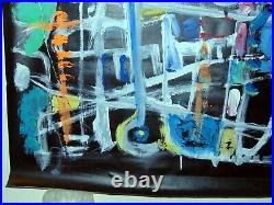 ANDREW TURNER Modern Abstract Painting on Projection Screen
