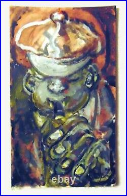 ANDREW TURNER Modern Musical Painting Clarinet Horn Trumpet Reed Man 1994
