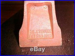 ANTIQ. 1887 Cast Iron Black Americana J. E. Stevens Mechanic 5-7-9 STORE SLOT/BANK