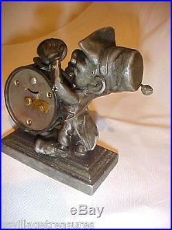ANTIQUE 1886 ANSONIA BEATING TIME CIVIL WAR DRUMMER BLACK MAN NOVELTY CLOCK