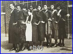 ANTIQUE 1920s AFRICAN AMERICAN BUFFALO NY VAMP GIRLS TEENS FUN FLAPPERS PHOTO