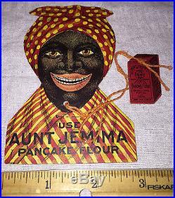 ANTIQUE AUNT JEMIMA TRADE CARD PANCAKE FLOUR PUZZLE GAME VINTAGE BLACK AMERICANA