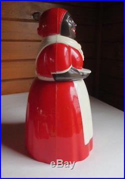 AUNT JEMIMA MAMMY COOKIE JAR SALT PEPPER SYRUP F & F MOLD & DIE