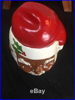African American Santa Claus Cookie Jar Black Americana limited edition