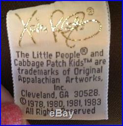 African American Soft Sculpture 25 STANDING Black Cabbage Patch Doll Rare'83