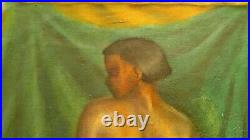 African American woman model Oil painting canvas Philadelphia 1939 1940