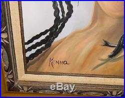 African Girl Large Original Oil On Canvas Painting
