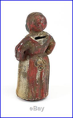 American Original Polychrome Aunt Jemima Cast Iron Bank. Unmarked