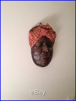 Americana Black Aunt Jemima Face Mask wall hanger old