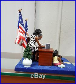 Annie Lee Art Oval Office President Obama Figurine African American Art
