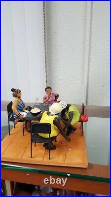 Annie Lee Figurine Misdeal/ Card Playing African American Art/Black Americana
