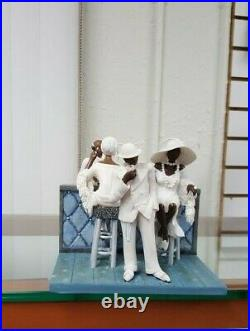 Annie Lee Figurine White Tie Only Scene Two/African American Art/Black Americana