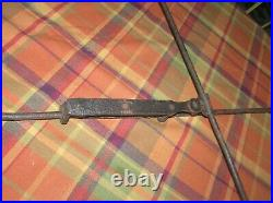 Antique 1700's Hand Forged Wrought Iron Adjustable Rush and Candle Light