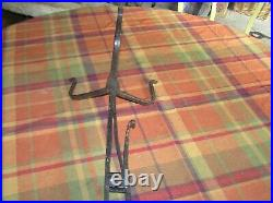 Antique 1700's Hand Forged Wrought Iron Standing Table Top Splint Light