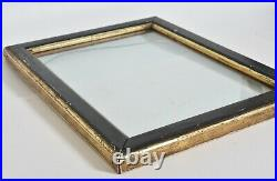 Antique 1800s Black & Gild Eastlake picture frame, with wavy glass