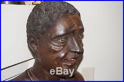 Antique 1850's Hardwood African Slave Rastus