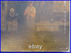 Antique 1882 American George Fuller 1857/58 Al African American Cabin Painting