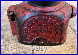 Antique 1882 Jolly N Shepard Hardware Black Americana Cast Iron Mechanical Bank