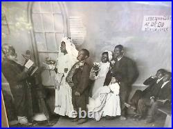 Antique 1897 Knaffl & Bro. Blackville Wedding Photo Black Americana Knoxville
