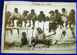 Antique 1898 Black Americana Memorabilia Gimme De Rine Panoramic Print