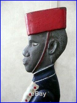 Antique 1920s Black Americana Cast Iron Bellboy Ashtray. Original, 37.5
