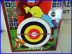 Antique 1930s Wyandotte Toys Sambo Tin Litho Shooting Target Game with Orig Box