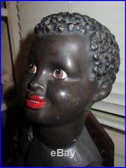 Antique 1938 GÉGÉ Toddler Character Paper Mache Black Americana Ebony Doll