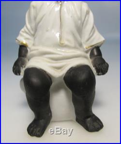 Antique 19th Century Black Americana Bisque Figurine Child on Chamber Pot #2 yqz