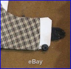 Antique 19thC Black Americana Folk Art Cloth Men Black Minstrel Painted Frame