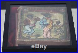 Antique African American Black Americana Puzzle Set In Original Box 19th Century