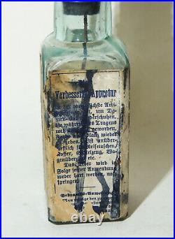 Antique BLACK AMERICANA Bottle Paper Label OUR Shoe Dressing Polish Heller Merz