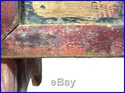 Antique BLACK AMERICANA SHOESHINE BOX 1890-1920 ELGIN IL AAFA Folk Art Primitive