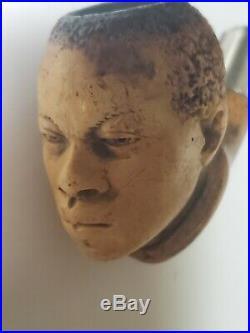 Antique Ben Wade Meerschaum Negro Black Americana Pipe C1900 Very Rare