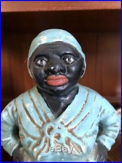 Antique Black Americana Aunt Jemima Mammy Chalk ware Figurine