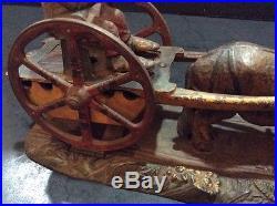 Antique Black Americana BAD ACCIDENT J & E STEVEN'S Original Mechanical Bank