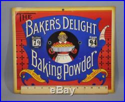 Antique Black Americana Baker's Delight Baking Powder Country Store Price Sign